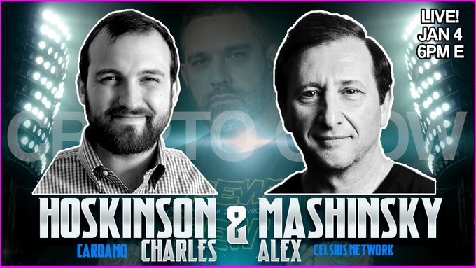 Crypto Crow Hosts Historic Interview with Celsius' Alex Mashinsky And Cardano's Charles Hoskinson