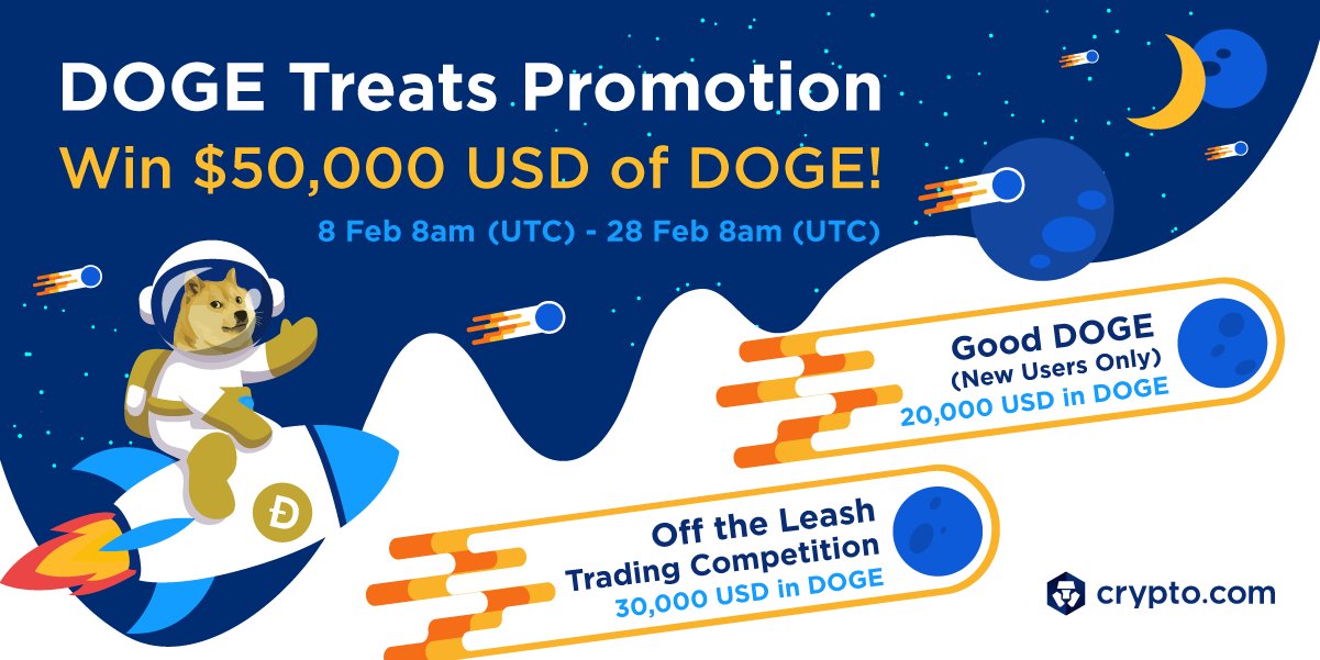 DOGE Treats Promotion – Win $50,000 USD of DOGE!