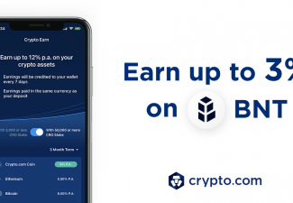 Crypto Earn: Now Earn up to 3% p.a. on Bancor (BNT) deposits, paid in BNT