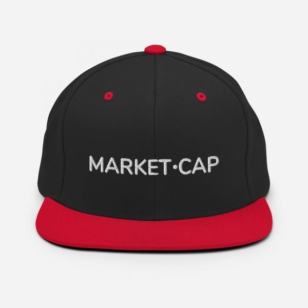 classic snapback black red front 605386181efbf Market Cap White Text 2021