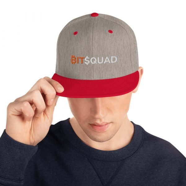 classic snapback heather grey red front 6052415d621a0 BitSquad Snapback 2021